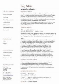 Resume Managing Director Managing Director Cv Sample Lebenslauf Muster