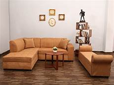 beige l shape sofa with settee used furniture for sale