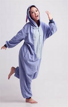 stitch blue character kigurumi onesie contacts cow