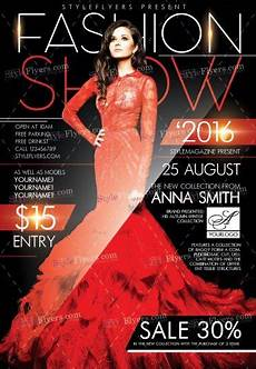 Fashion Show Flyers Fashion Show Psd Flyer Template 10924 Styleflyers