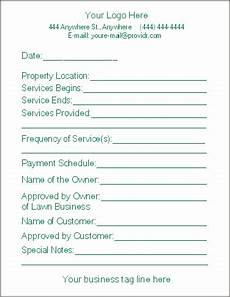 Lawn Care Bid Template Free Printable Lawn Care Contract Form Generic