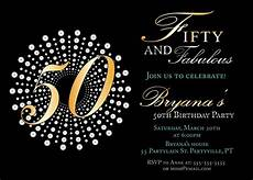 50th Birthday Invitations Free Fifty And Fabulous Birthday Invitations 50th Birthday Party