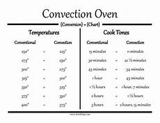Convection Conversion Chart Convection Oven Conversion Guide Making Cooking Stress