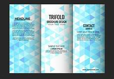 Template For Brochure Free Vector Trifold Brochure Template Download Free Vector