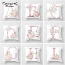 fuwatacchi letter pillow alphabet polyester