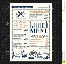 Breakfast Menu Layout Retro Frame Restaurant Lunch Menu Design Layout 45815640