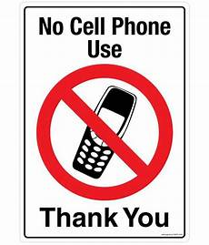 Cell Phone Store Signs Safety Sign Store No Cell Phone Use Facility Signs Poly