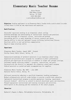Music Teacher Resume Sample Resume Samples Elementary Music Teacher Resume Sample