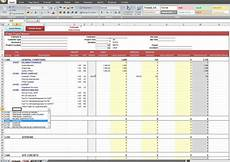 Job Costing Template Excel Construction Job Costing Spreadsheet Template Expense