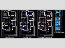Twin House Space Planning (35'x65') Floor Layout DWG Free Download in 2020   Kitchen furniture