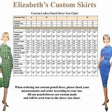 Ladies Pencil Dress Pencil Skirt Standard Size Chart Us