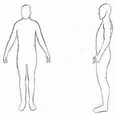 Outline Of Human Body Front And Back Free Human Outline Template Download Free Clip Art Free