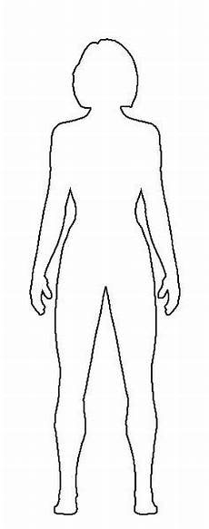 Outline Of A Female Body Template Human Body Outline For Kids Fun Preschool Ideas My