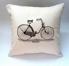 14x14 vintage bicycle pillow slip cover shabby