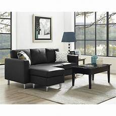 Tiny Sectional Sofa 3d Image by Dorel Living Small Spaces 2 Configurable Black