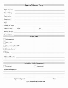 Absence Request Form Template Leave Of Absence Form Template