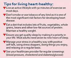 Heart Health Chart A Healthy Heart Makes For A Healthier Life Fort Healthcare