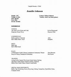 Child Actor Resume Format Acting Resume Template 7 Free Word Excel Pdf Format