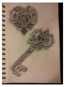 Skeleton Key And Lock Designs Locked Heart And Skeleton Key By Organicmoon On