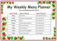 Weekly Menu Template Word Weekly Menu Template For Home Word Templates