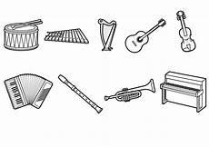 malvorlagen instrumente in malbild
