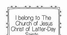 I Belong To The Church Of Jesus Christ Flip Chart I Belong To The Church Of Jesus Christ Flip Chart