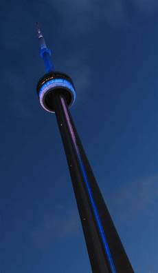Cn Tower Light It Up Blue The Cn Tower Lit Blue And White Last Night To Celebrate