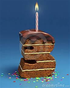 candela a forma di torta torta di compleanno a forma di di numero tre con la