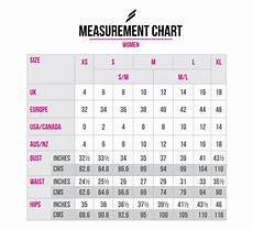 Hip Inches Size Chart Size Guide Doyoueven