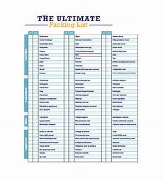 Excel Packing List Template Packing List Template 10 Free Word Excel Pdf Format