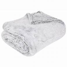soft touch cuddle grey fleece throw sofa blanket 150 x