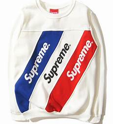 Supreme Pictures by Supreme Sweatshirts Striped Casual Hoodies Brand Clothing