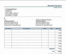 Employee Hours Template Invoice Template Hours Worked Invoice Example