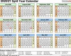 2020 16 Year Calendar Split Year Calendars 2020 2021 July To June Pdf Templates
