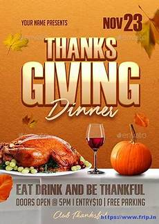 Thanksgiving Flyers 70 Best Thanksgiving Party Flyers Print Templates 2020