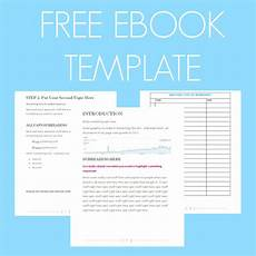 Book Writing Templates Free Free Ebook Template Preformatted Word Document What