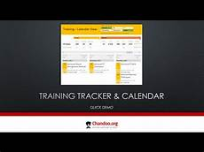 Training Tracker Training Tracker And Calendar In Excel Quick Demo Youtube