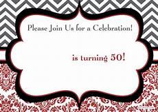 50th Birthday Invites Templates Free 50th Birthday Party Invitations Wording Free