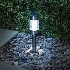 Solar Powered Stake Lights B Amp M Gunmetal Solar Stake Light Outdoor Amp Garden Solar