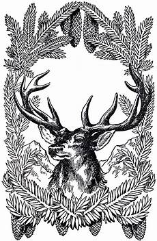 Black And White Christmas Graphics 12 Deer And Antlers Clipart The Graphics Fairy