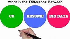 Resume And Biodata Difference Difference Between Bio Data Resume And Cv Youtube