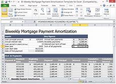 Mortgage Amortization Excel Download Bi Weekly Mortgage Payment Amortization Template For Excel