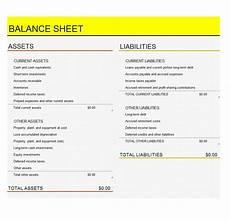 Sample Excel Balance Sheet 41 Free Balance Sheet Templates Amp Examples Free Template