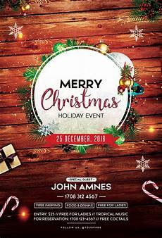 Free Christmas Flyer Psd Merry Christmas 2018 Free Psd Flyer Template