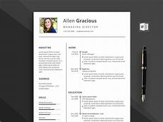 Resume Template 2020 Word Word Resume Template Free Download 2020 Daily Mockup