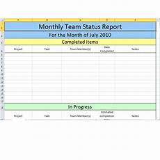 Team Status Report Template Bright Hub S Free Project Management Execution Templates