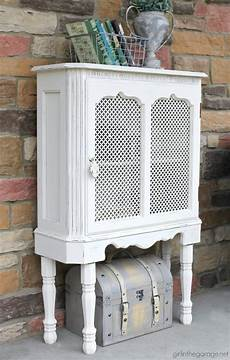 upcycled curio cabinet makeover in the garage 174