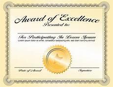 Template Of Award Certificate Generic Award Certificate In Vector Format Trashedgraphics