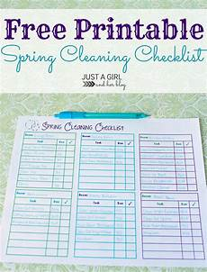 Cleaning Checklist By Room Spring Cleaning Checklist Free Printable 4 Real
