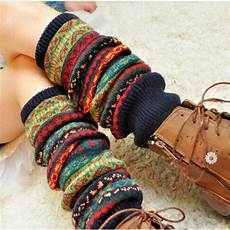 bohemis winter knee knit crochet leg